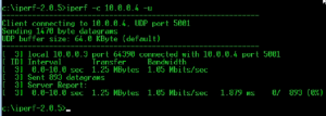 Iperf Testing with UDP
