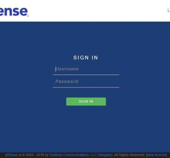 pfSense captive portal logout page