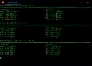 nload – Displays Network Usage